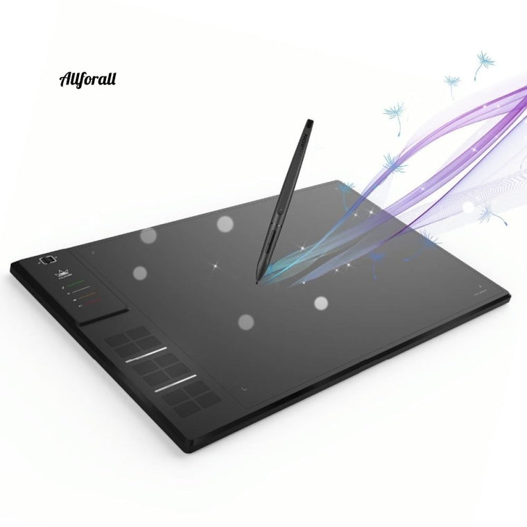 GIANO WH1409 14-inch 8192 Levels Wireless Digital Tablet, Graphic Wire Pen Animation Drawing Tablet
