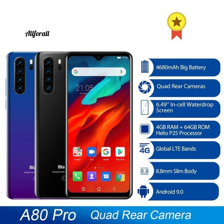 Global Version Blackview A80 Pro, Quad Rear Camera Octa Core