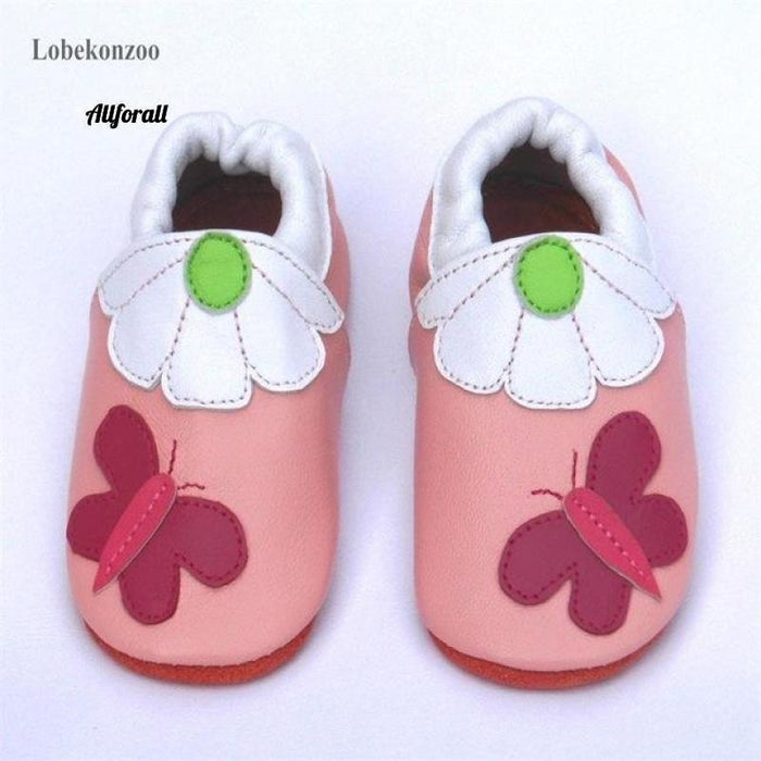 Guaranteed 100% Soft Soled Genuine Leather, Baby First Walkers Infant Shoes baby-shoes allforall butterfly 2