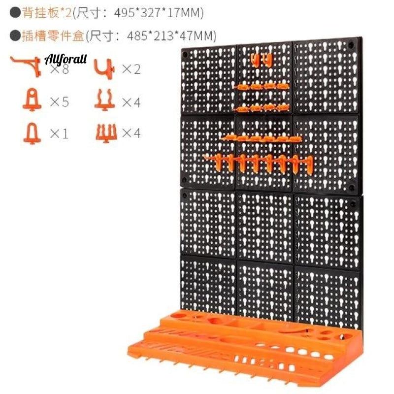 Hardware Tools Hanging Board, Garage Workshop Storage Rack Screw Wrench Classification Component Case Parts Box, Instrument Case