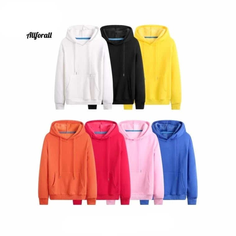 Hoodies Sweatshirts, Autumn Winter Plus Size Long Sleeve Pocket Pullover, Hoodie Unisex Casual Warm Sweater