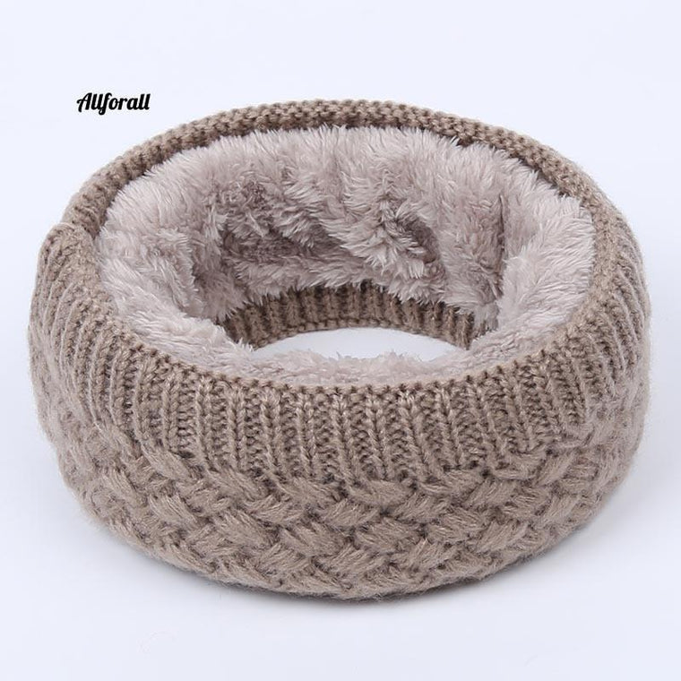 Hot Women Men Fashion Winter Warm Scarf, Solid Chunky kabel Stickad Ull Snood Infinity Neck Warmer