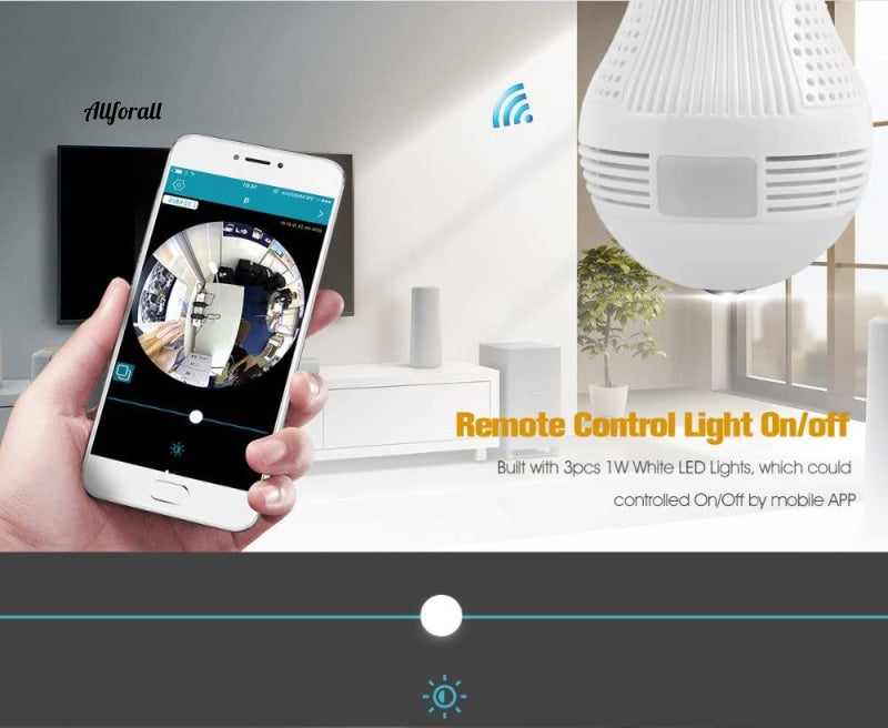 Icsee Hd 360 ° Panoramic Wifi 1080P Ip Camera Light Bulb Home Security Video Wireless Cctv