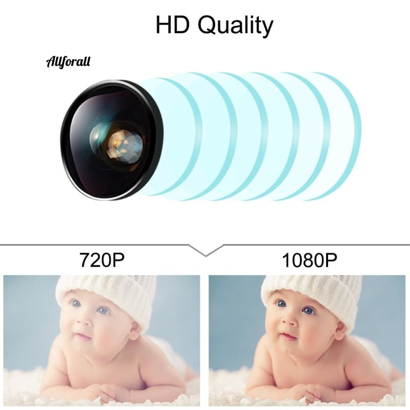 Ip Camera 1080P Wifi Two Way Audio Low Consumption Home Security Motion Detection Ir Night