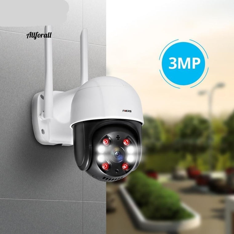 IP WIFI Outdoor Camera, 3MP 4X Digital Zoom Home Security Camera, Surveillance CCTV Night Vision Motion Detection