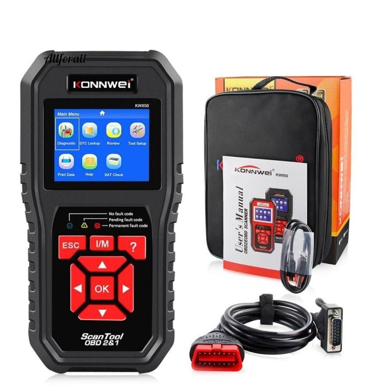 KW850 OBD2 Auto Diagnostic Scanner Tool, OBD 2 Car Diagnostic Tool, Check Motor Automotive Car Code Reader