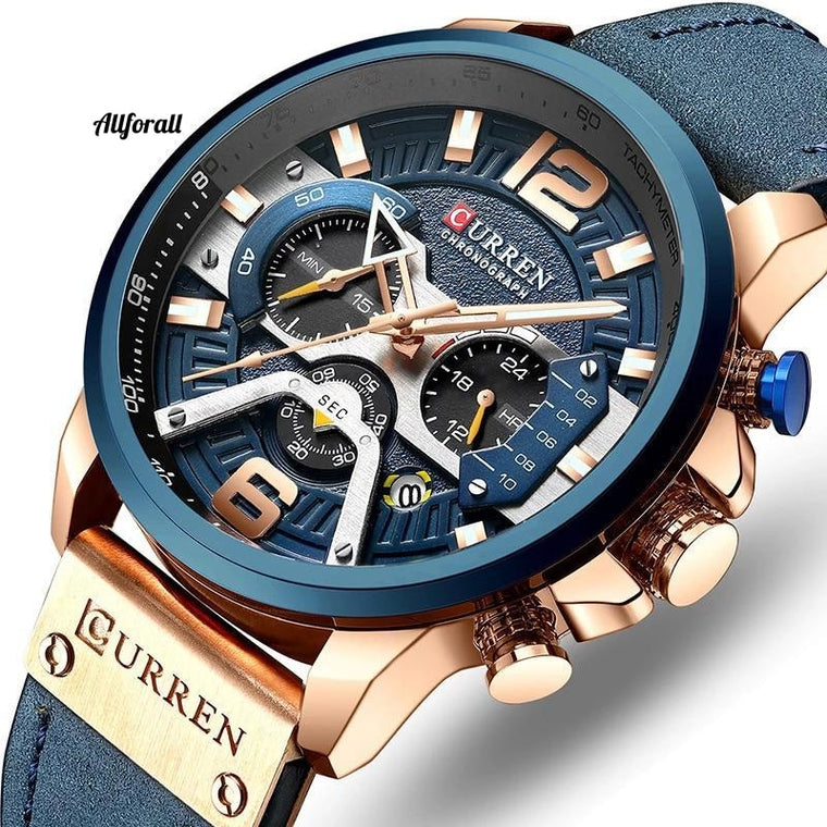 Luxury Brand Men Analog Leather Sports Watches, Men Army Military Watch, Male Date Quartz Clock