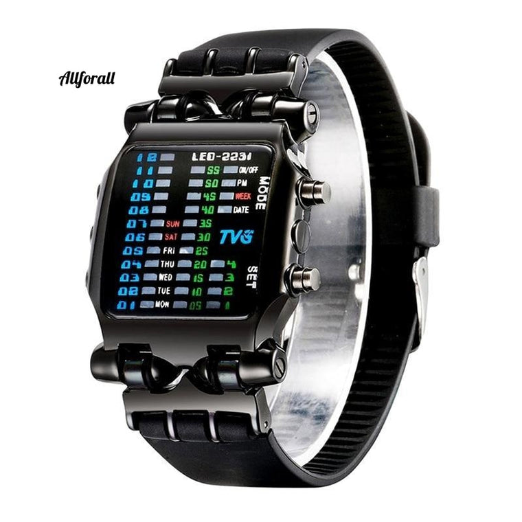Luxe merk TVG horloges, mode rubberen band LED digitale waterdichte sport militaire horloges