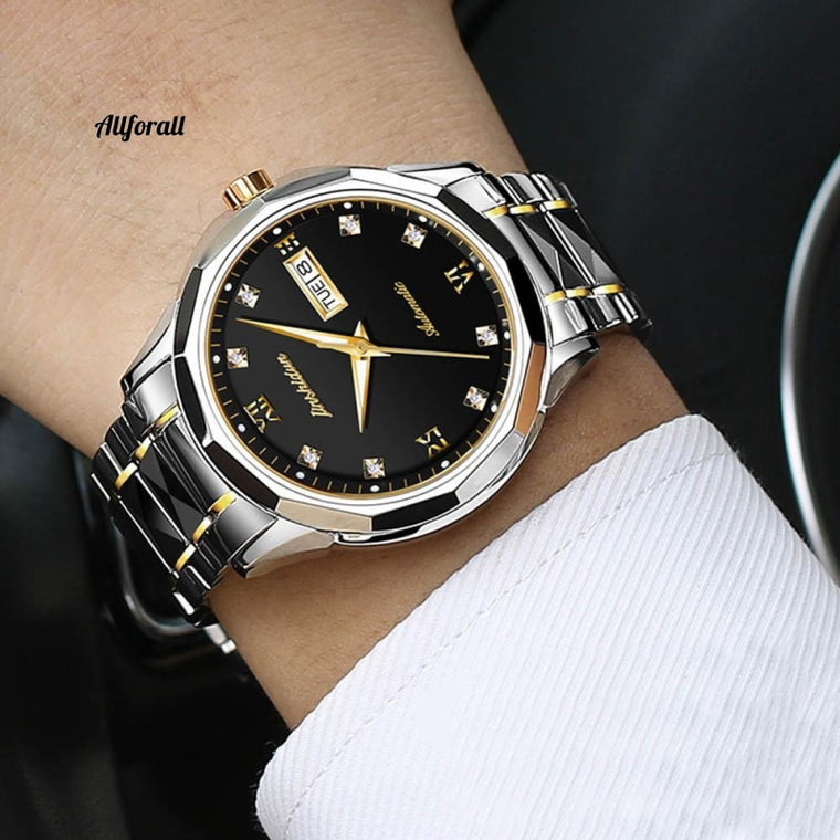 Luxury Men Watches, Automatic Sapphire Men JSDUN Japan Movement Waterproof Business Sport Mechanical Jamwatch