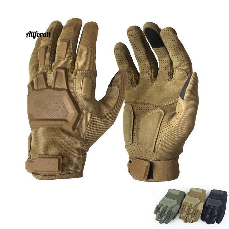 Men Army Special Forces Antisid Cykel Full Finger Gym Handskar, Tactical Touch Screen Military handskar