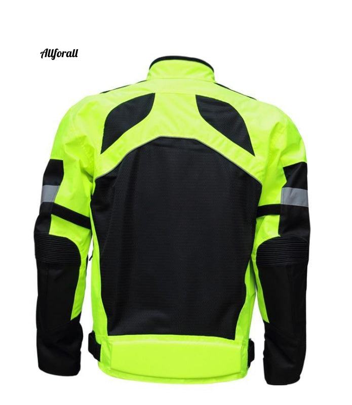 Men Motorcycle Riding Clothing Breathable Racing Motorbike Suit for Summer Autumn, Reflective Clothes