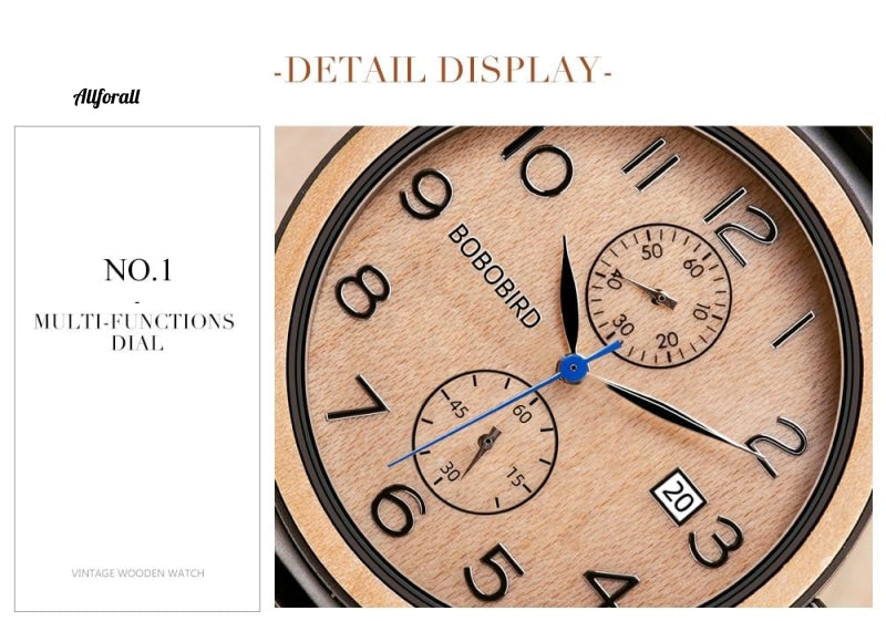 Men Top Luxury Stainless Steel Wooden Watches, Great Gifts for Man, Free Engraving