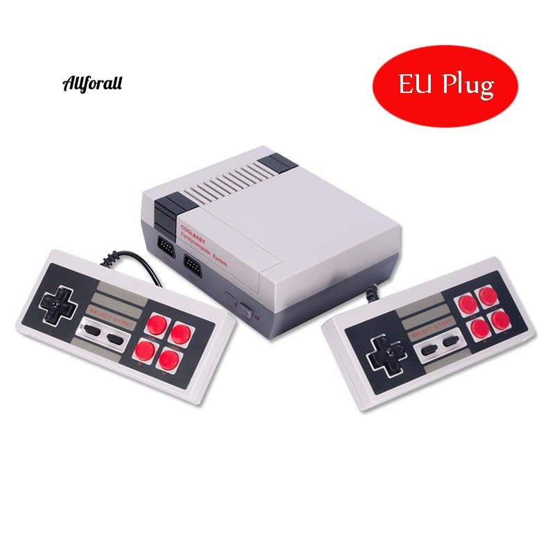Mini TV Handheld Family Recreation Video Game Console, AV Output Retro Built-in 620 Classic Games, Dual Gamepad