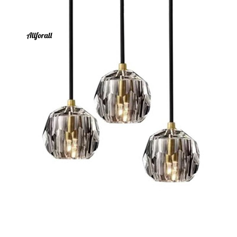 Modern Luxury K9 Crystal Pendant Light, Nordic Gold Hanging Luminaire Home Decor