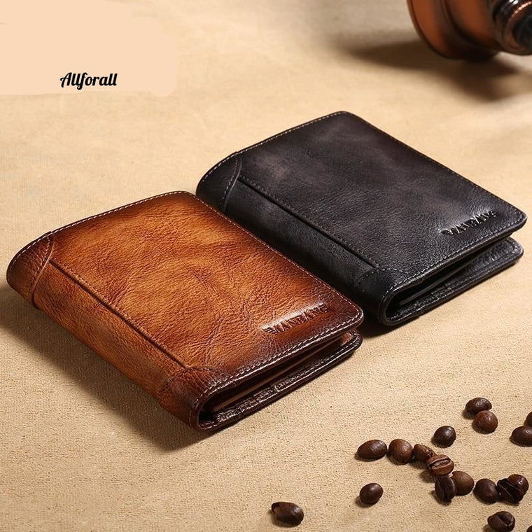 New 100% Genuine Leather Men Wallet, Small Mini Card Holder Wallet