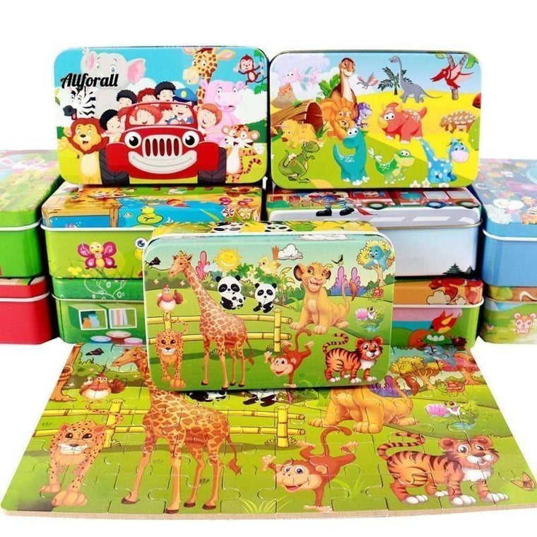 Nieuw 60 Pieces Houten puzzel Kids Toy, Animal Wood Jigsaw Puzzles Child Early Educational Toys