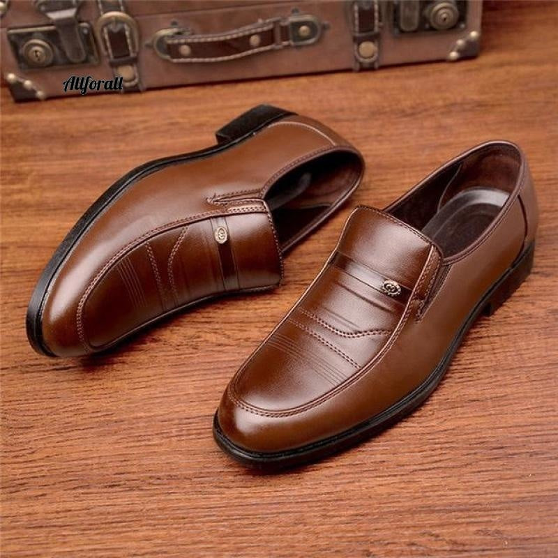New Arrival Men Leather Slip On Shoes, Round Toe Summer Footwear, Office Work Shoes men shoes allforall 5 6