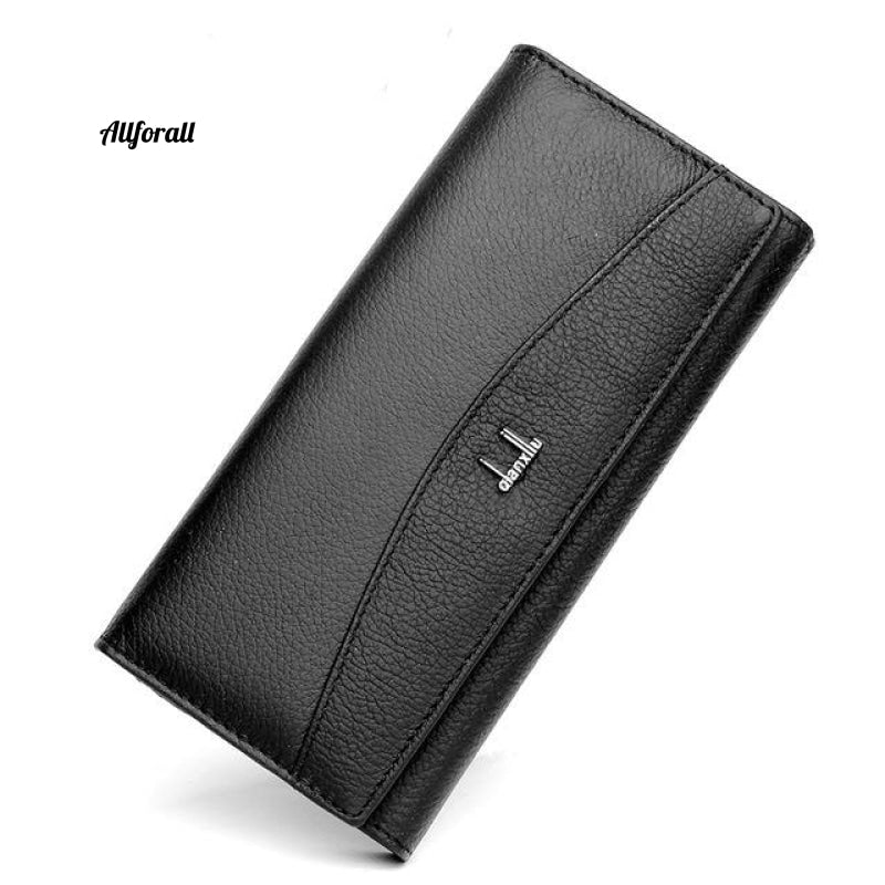 New Brand 100% Genuine Leather Wallet Women High Quality Coin Purse Black Women Purse
