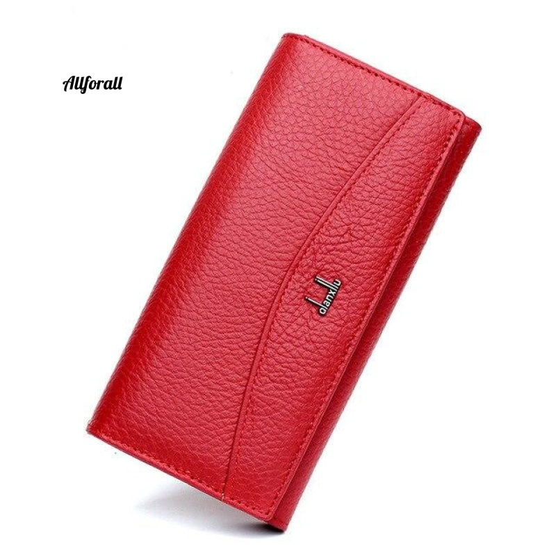 New Brand 100% Genuine Leather Wallet Women High Quality Coin Purse Red Women Purse
