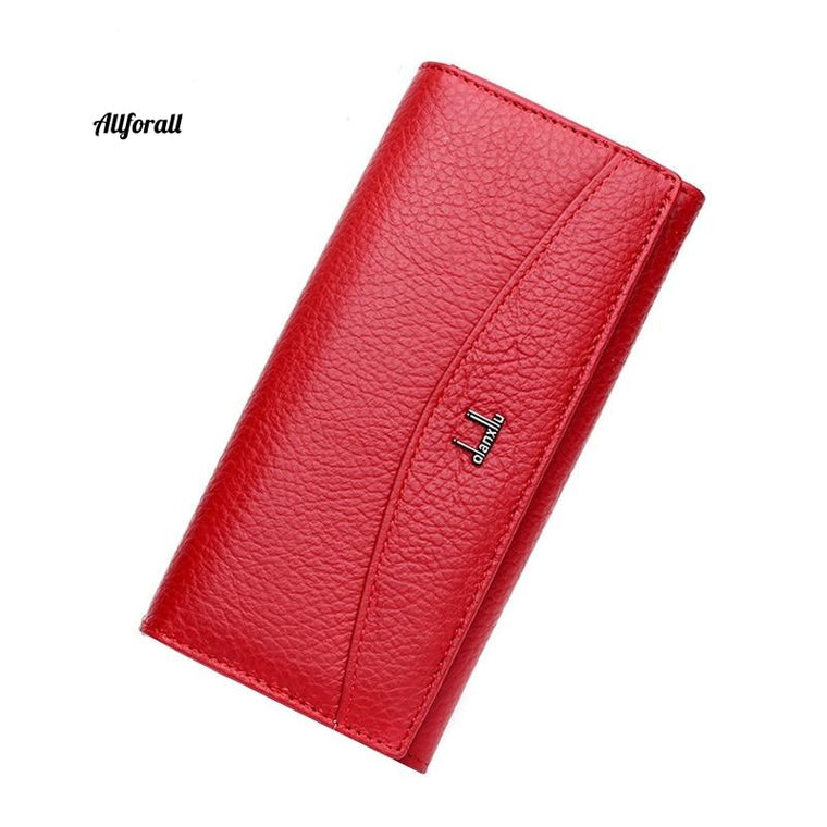 New Brand 100% Genuine Leather Wallet, Women High Quality Coin Purse