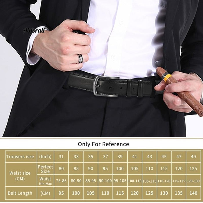 New Fashion Men äkta läderbälte, Designer Belt Pin Spänne med läderrem, Business Dress Man Belt