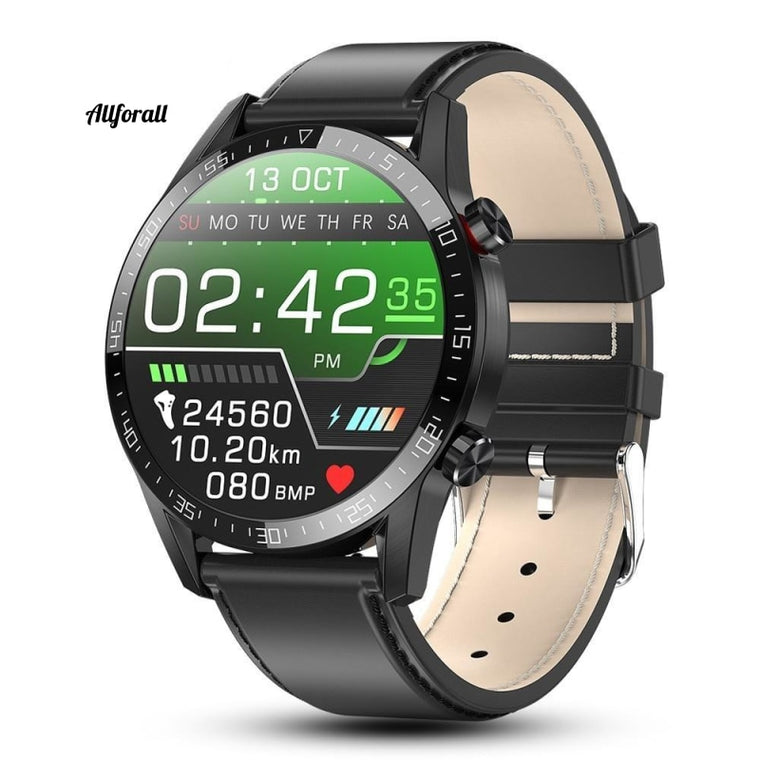 Nieuw L13 Smart Watch, IP68 Waterproof ECG PPG Bluetooth Call Bloeddruk Hartslag Smartwatch