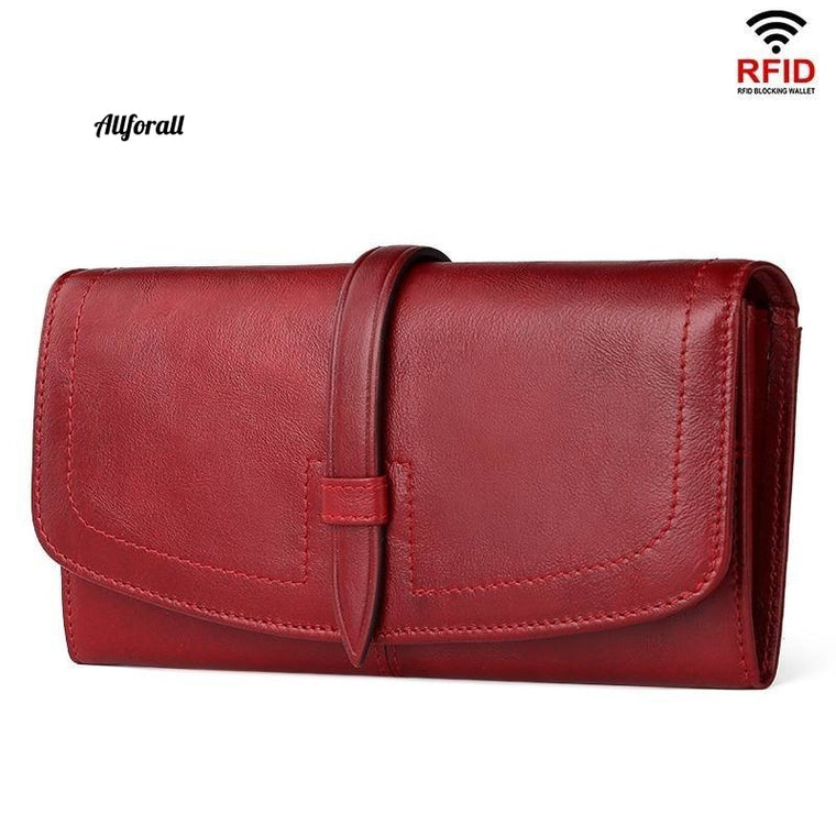 New Luxury Wallet, Long Genuine Leather Women Wallet, Zipper Purse Fashion High Quality Wallet, Trendy Coin Purse Holder Card