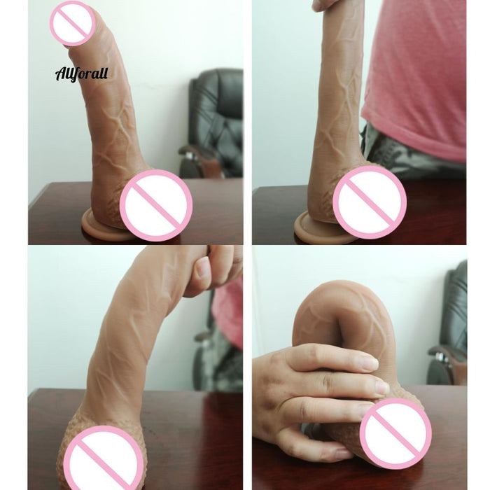 New Skin Feeling Realistic Penis Super Huge Big Dildo With Suction Cup Sex Toy for Woman, Female Masturbation Cock