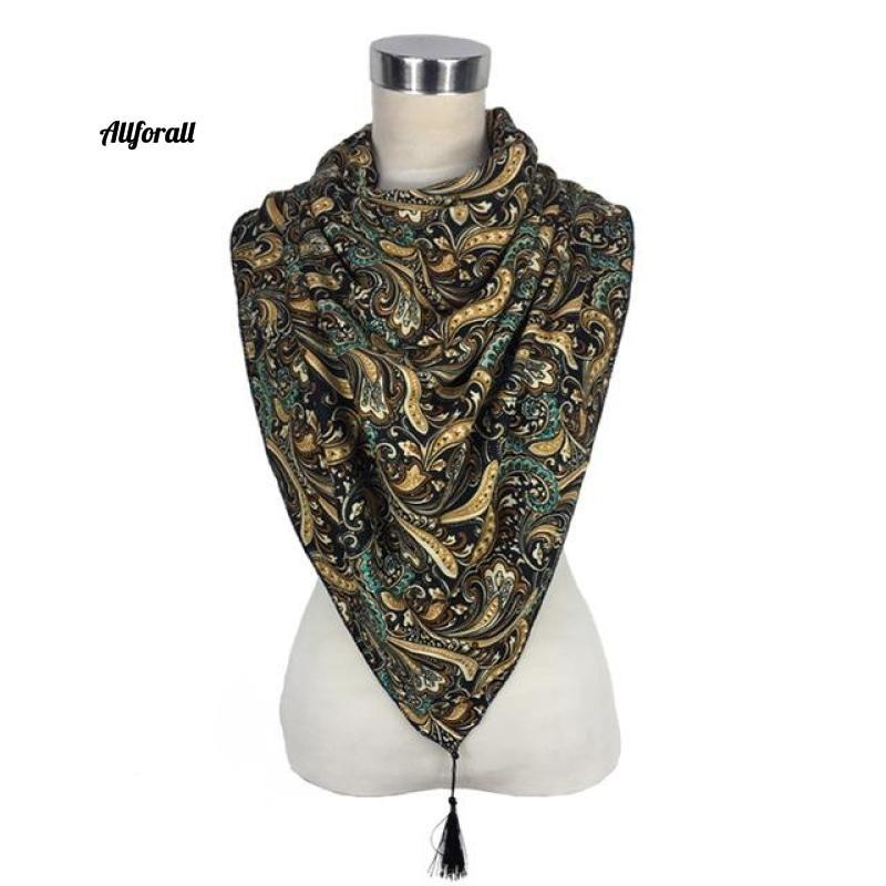 New Style Fashion Russian Ethnic Pattern Winter Scarf, Warm Scarf Wrap Soft hair Lady Shawl Scarf allforall color08 One Size