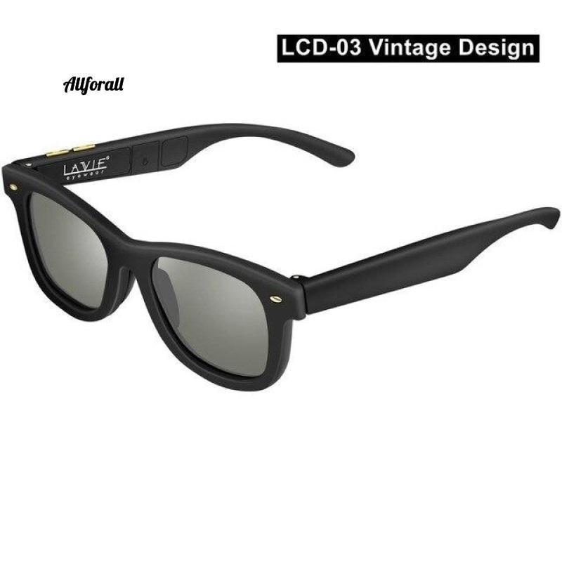 New Women Sunglasses With Variable Electronic Tint Control Lens Smart Sunglasses, Men Polarized Driving Sunglasses women sunglasses allforall LCD03-Vintage US