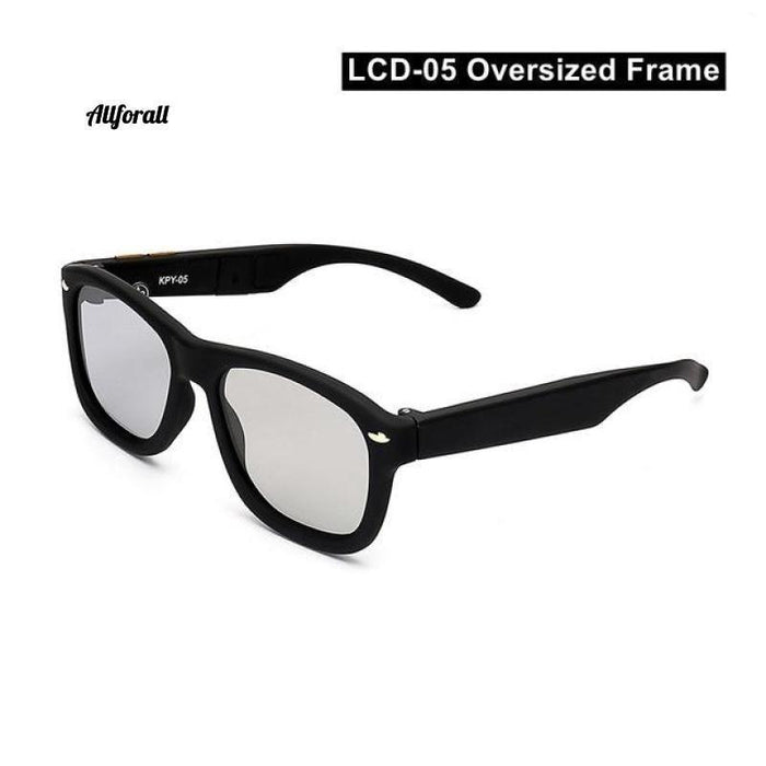 New Women Sunglasses With Variable Electronic Tint Control Lens Smart Sunglasses, Men Polarized Driving Sunglasses women sunglasses allforall LCD05-Oversize US