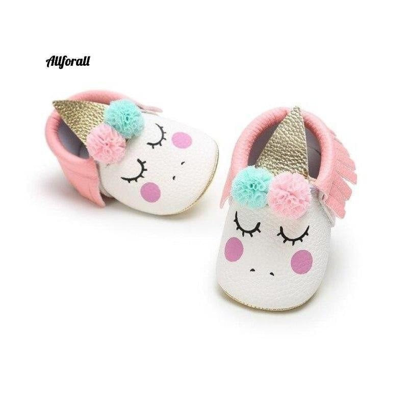 Nouveau-né First Walker Party Shoes, New Unicorn PU Leather Baby Shoes baby-shoes allforall 1 1