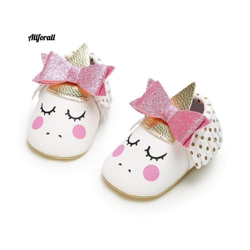 Nouveau-né First Walker Party Shoes, New Unicorn PU Leather Baby Shoes baby-shoes allforall