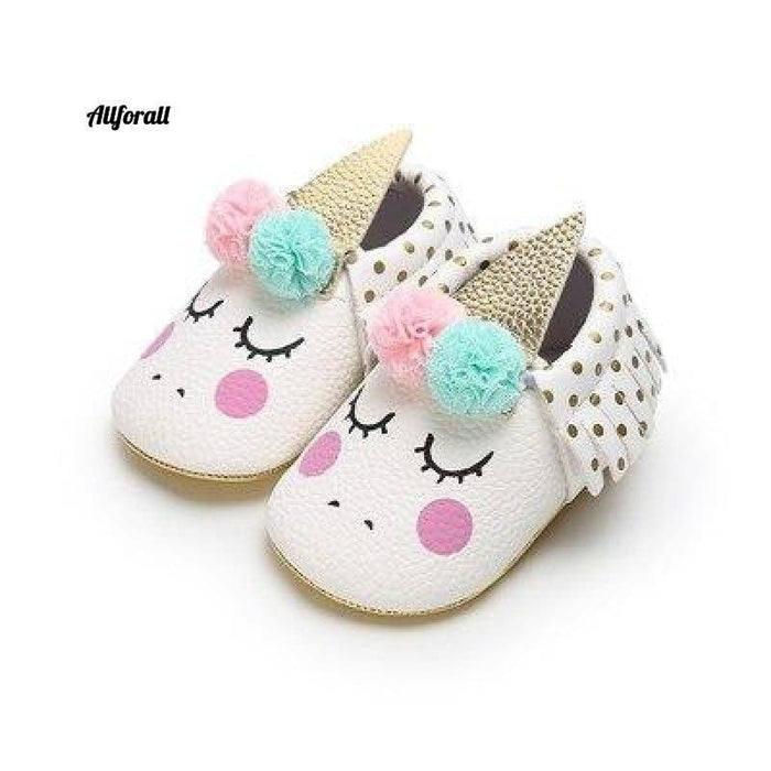 Nouveau-né First Walker Party Shoes, New Unicorn PU Leather Baby Shoes baby-shoes allforall 2 1