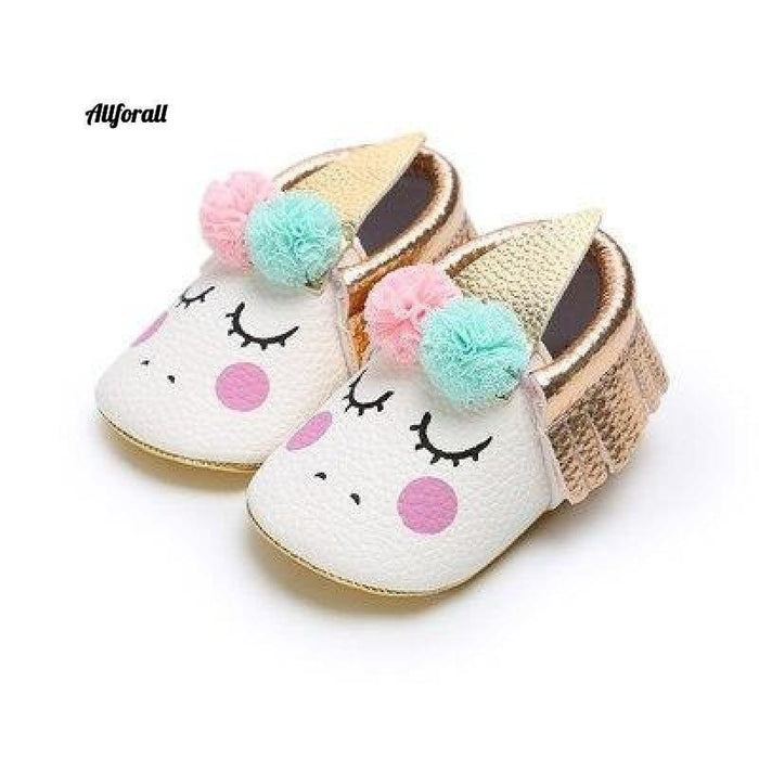 Nouveau-né First Walker Party Shoes, New Unicorn PU Leather Baby Shoes baby-shoes allforall 3 1