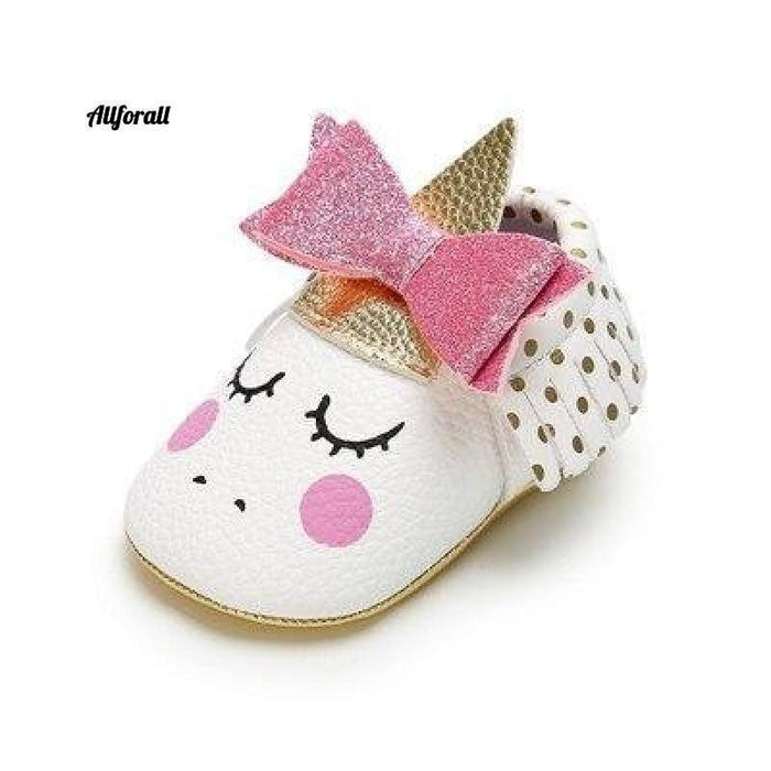 Nouveau-né First Walker Party Shoes, New Unicorn PU Leather Baby Shoes baby-shoes allforall 4 1