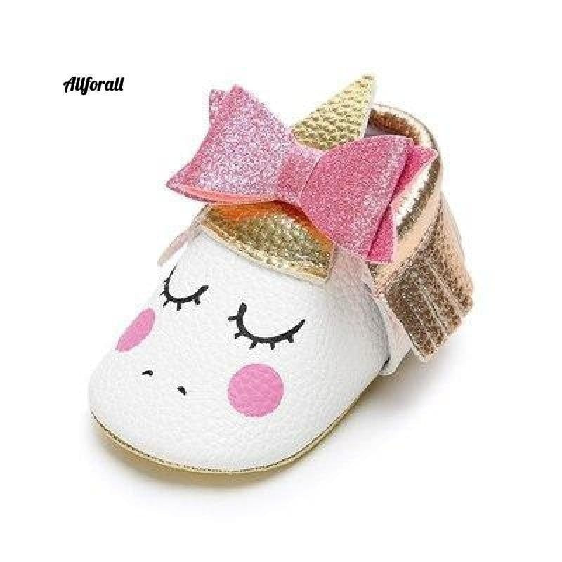 Nouveau-né First Walker Party Shoes, New Unicorn PU Leather Baby Shoes baby-shoes allforall 5 1