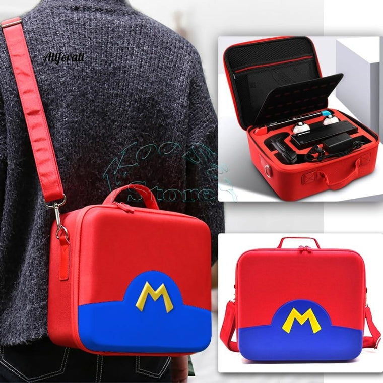 Νεότερα αξεσουάρ Nintendoswitch NS, Red EVA Protective Travel Case, Nintend Pokeball Bag, Storage Box for Nintendo Switch