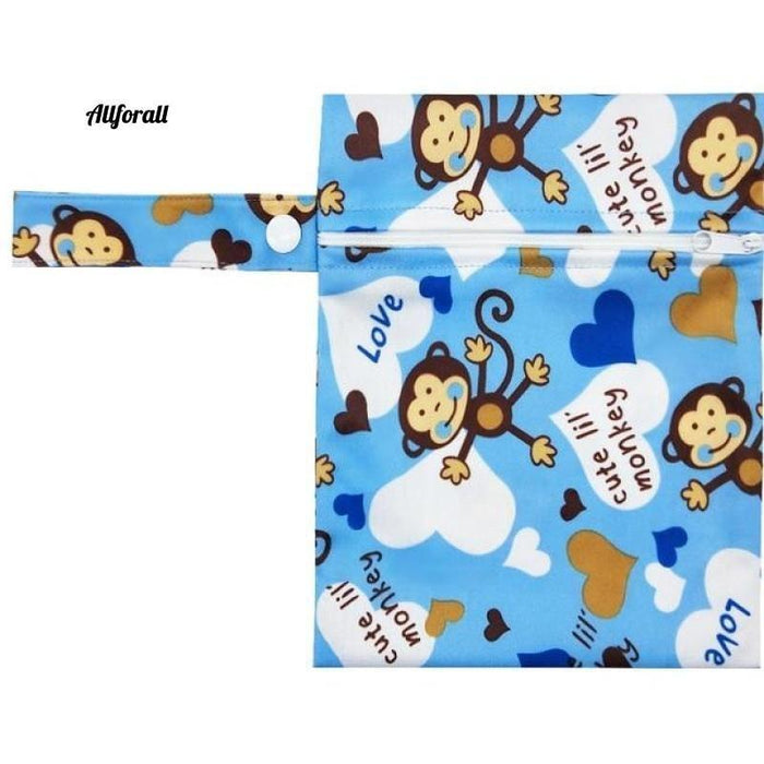 Nursing Pads Single Zippers Sanitary Pads, Washable Wet Bags Nappy Bags Best moms allforall A60-1