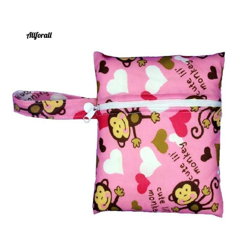Nursing Pads Single Zippers Sanitary Pads, Washable Wet Bags Nappy Bags Best moms allforall A602