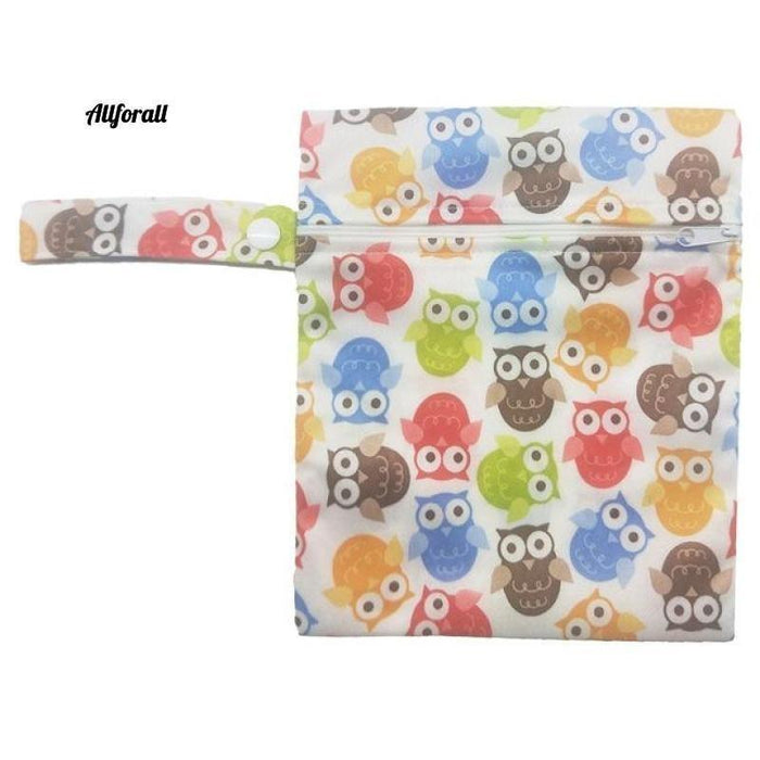 Nursing Pads Single Zippers Sanitary Pads, Washable Wet Bags Nappy Bags Best moms allforall H05