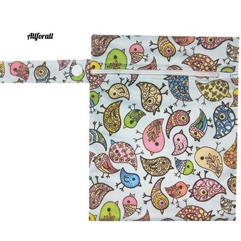 Nursing Pads Single Zippers Sanitary Pads, Washable Wet Bags Nappy Bags Best moms allforall N192