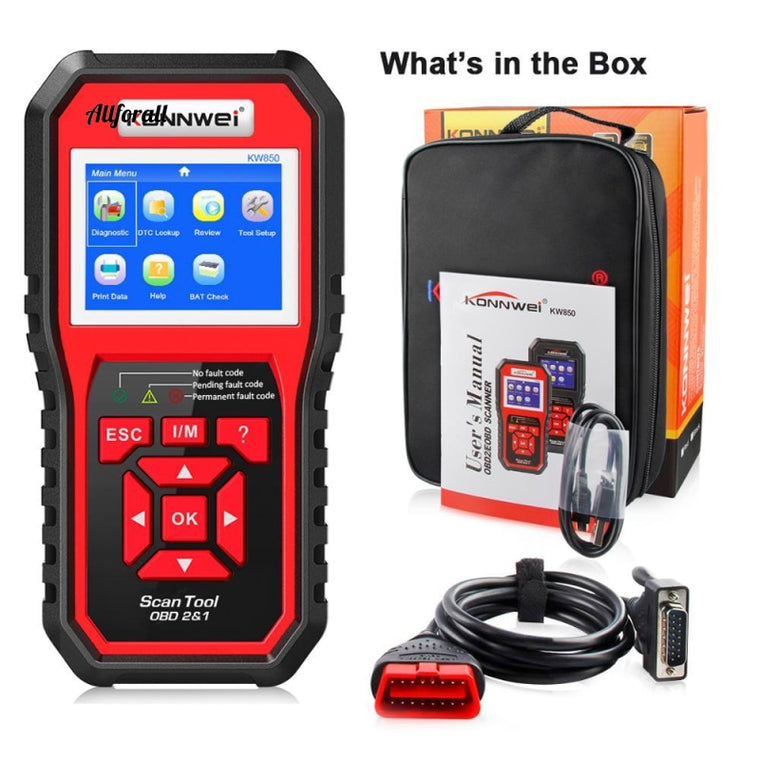 OBD 2 Car Scanner, OBD2 Scanner, KW850 Full ODB2 Scanner, Multi-languages ​​ODB Car Diagnostic Tool