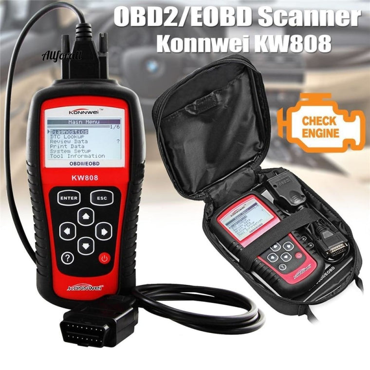 Originalni KW808 OBD Car Scanner, OBD2 Auto Automotive Diagnostic Scanner Tool, podpira J1850 Motor Fault Code Reader dfd