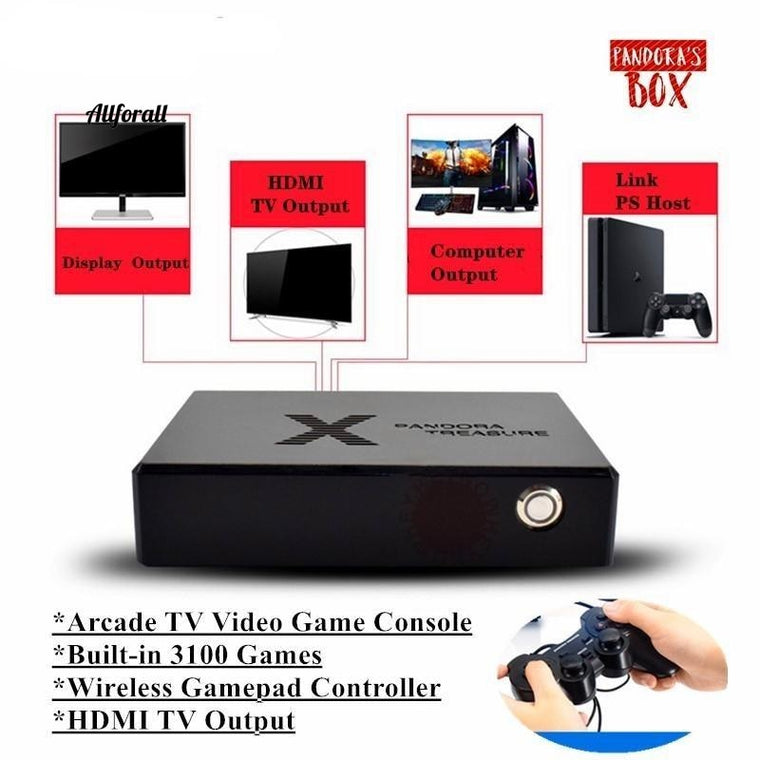 Pandora Box, Mini Arcade Video Game Console, HDMI Output 3100 Games, Moonlight Treasure Box, Αναδρομικό παιχνίδι 3D Arcade