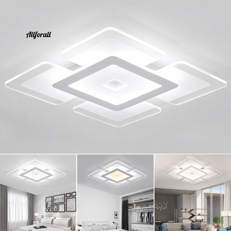 Telefon Modern Super Bright Stepless Dimming Home Practical Living Room Voice Smart Akryl Sovrum Led Taklampa