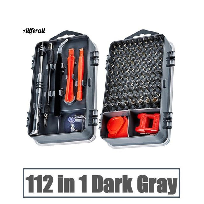 Phone Repair Tools Kit, Screwdriver Set, Precision 115 In 1 Magnetic Torx Hex Bit Screw Driver Bits, Insulated Multitools