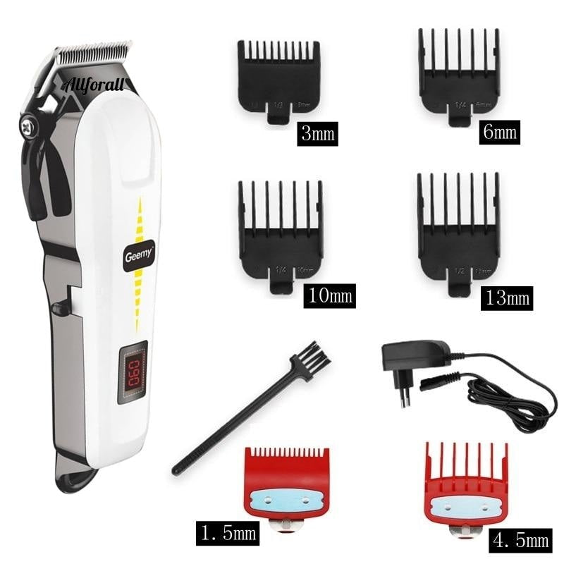 Professional Barber Hair Clipper, Cordless Hair Trimmer, Electric Rechargeable Hair Cutting Machine