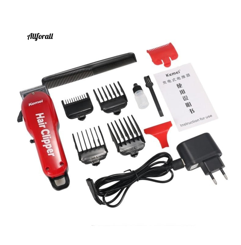 Professional Hair Clipper, Rechargeable Electric Hair Cutter, Shaving Machine, Barber Salon Hair Trimmer Razor