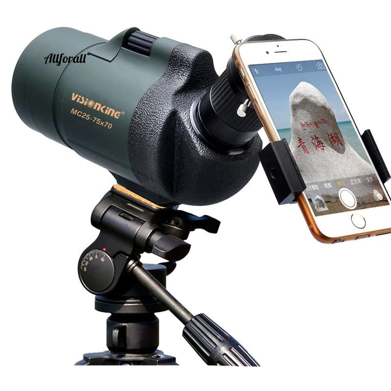 Professional Spotting Scope, MC25-75x70 Zoom Monocular Telescope, High Power Waterproof Telescope